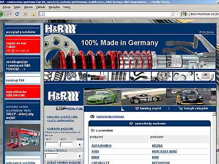 katalog i opis produktów H&R, www.h-r.com.pl